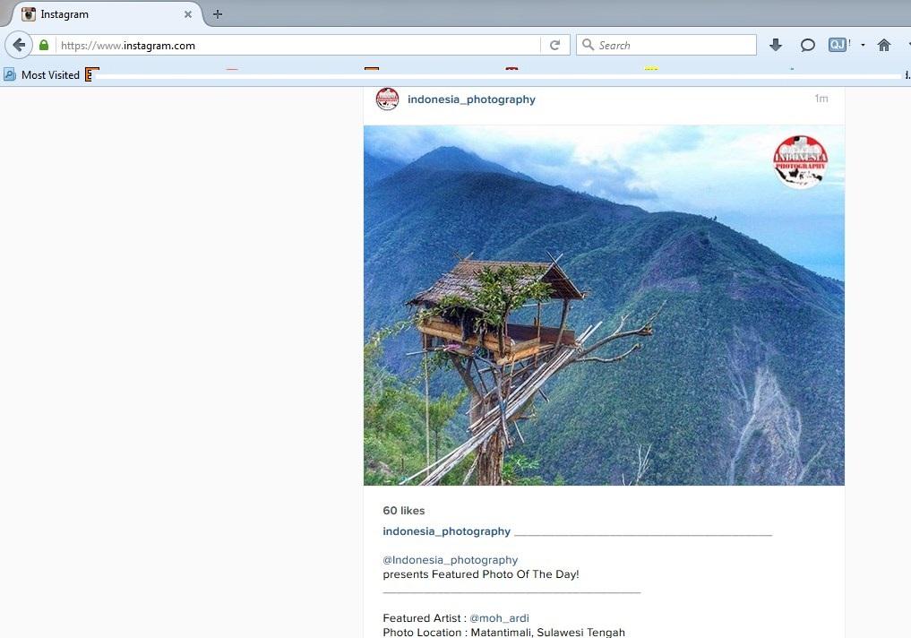 Tampilan Instagram di Browser