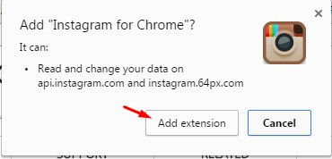 add extension instagram PC