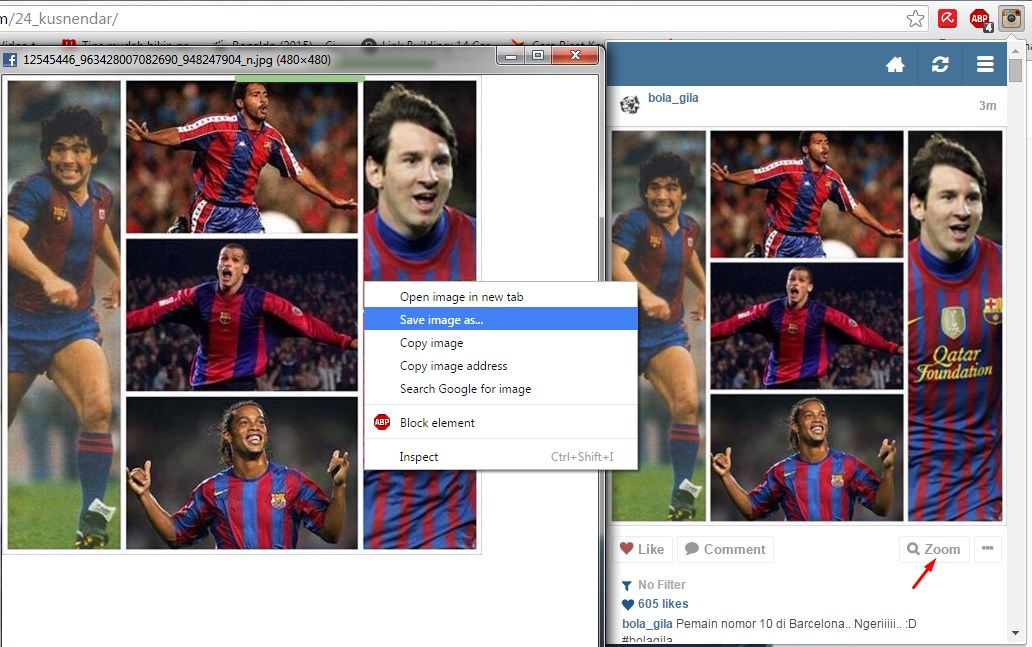 download foto instagram di PC