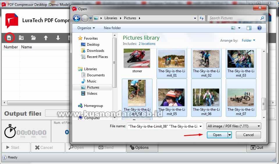 Input file JPEG to PDF