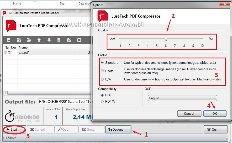 Cara kompres File PDF Pakai LuraTech