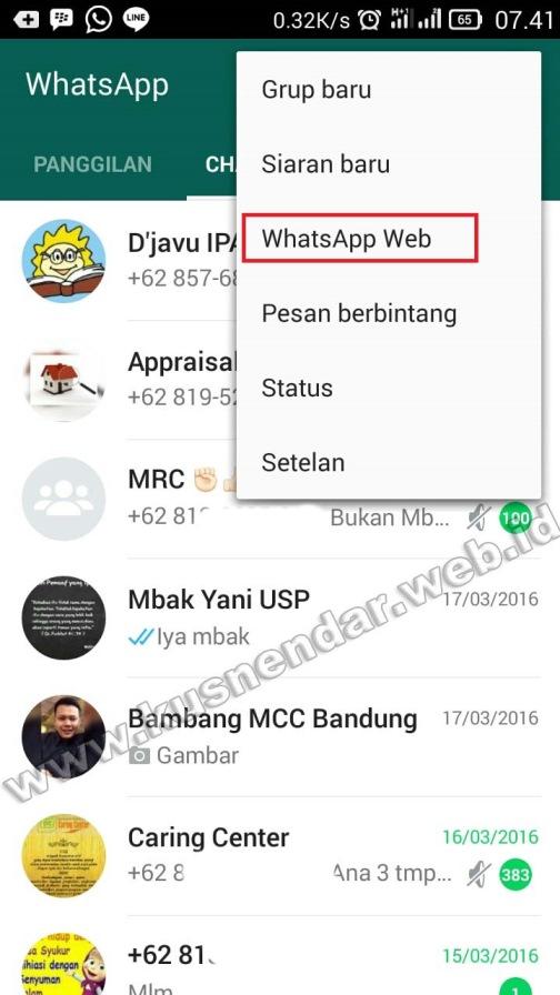 Login WhatsApp Web HP ke PC