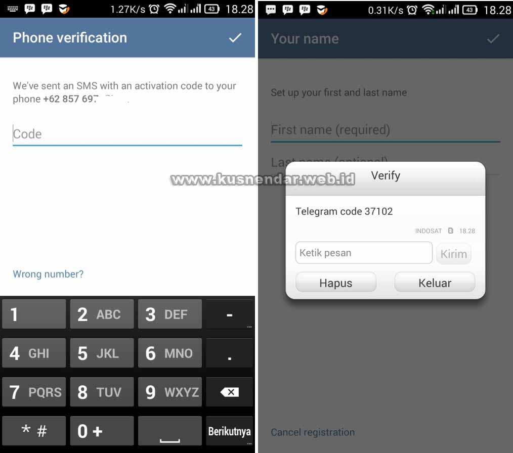 Verifikasi APlikasi Telegram