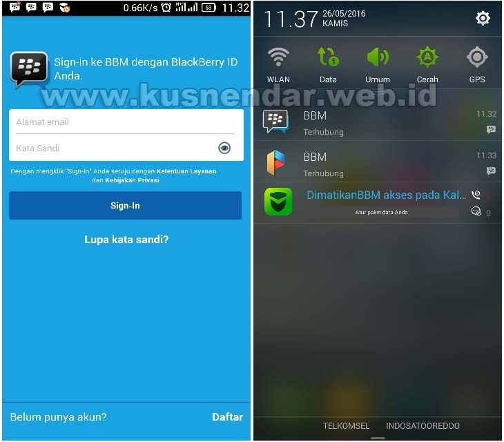 Masuk 2 BBM di Android