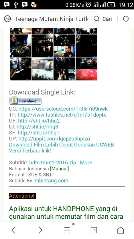 Link Download FIlm di Android