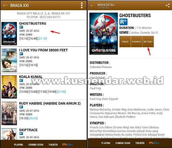 Beli tiket Bioskop Online di ANdroid