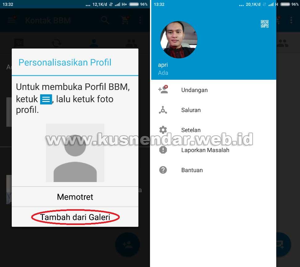 Buat Profil BBM Android