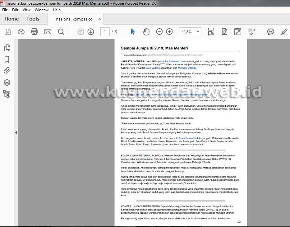 Menyimpan Haaman Web ke PDF di Chrome