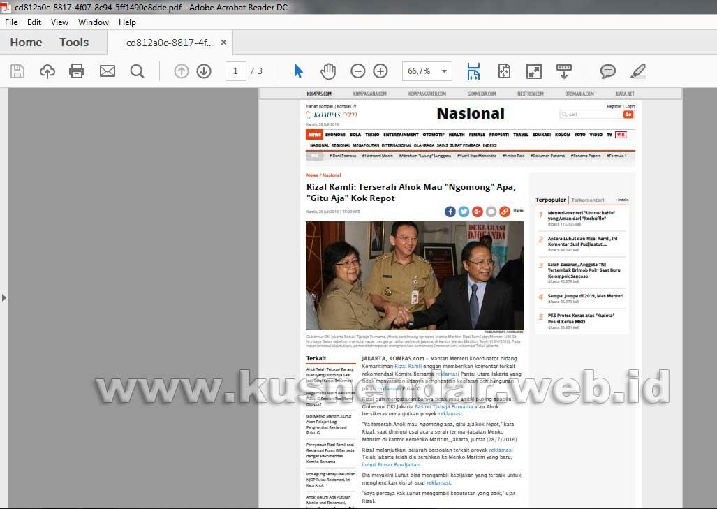 Menyimpan halaman web ke PDF di Mozilla