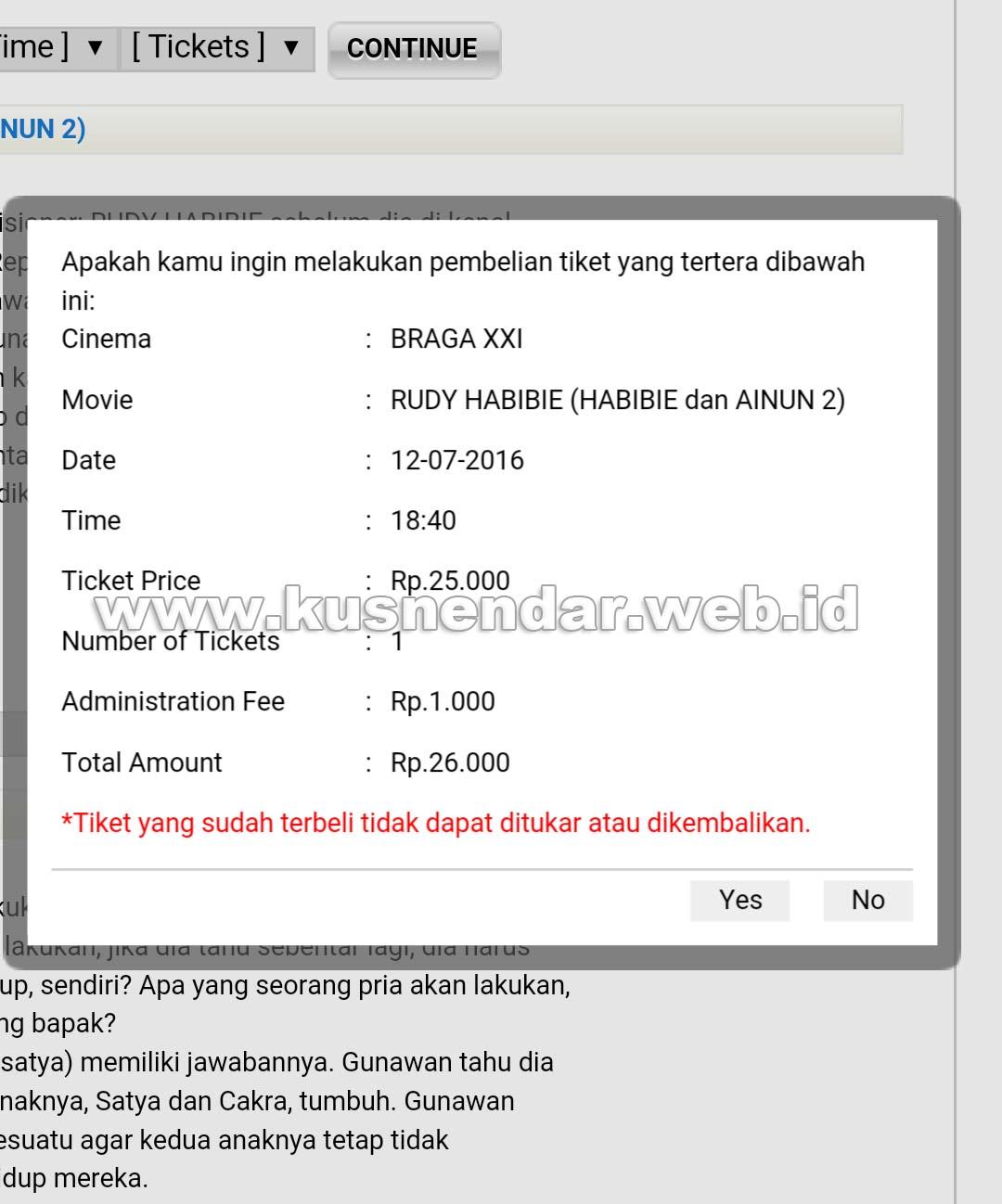 Siap beli Tiket Online MTiX