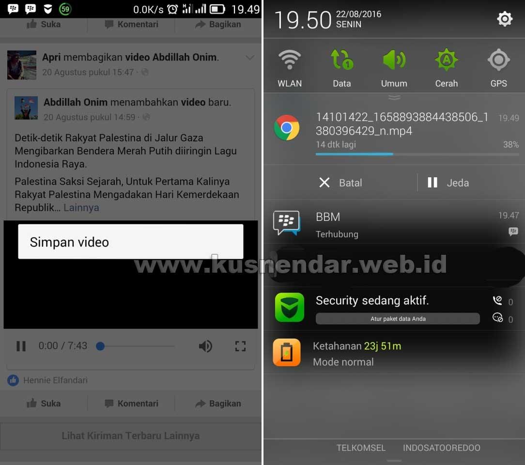 Download Video Facebok di Android
