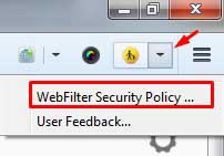 Webfilter security Policy