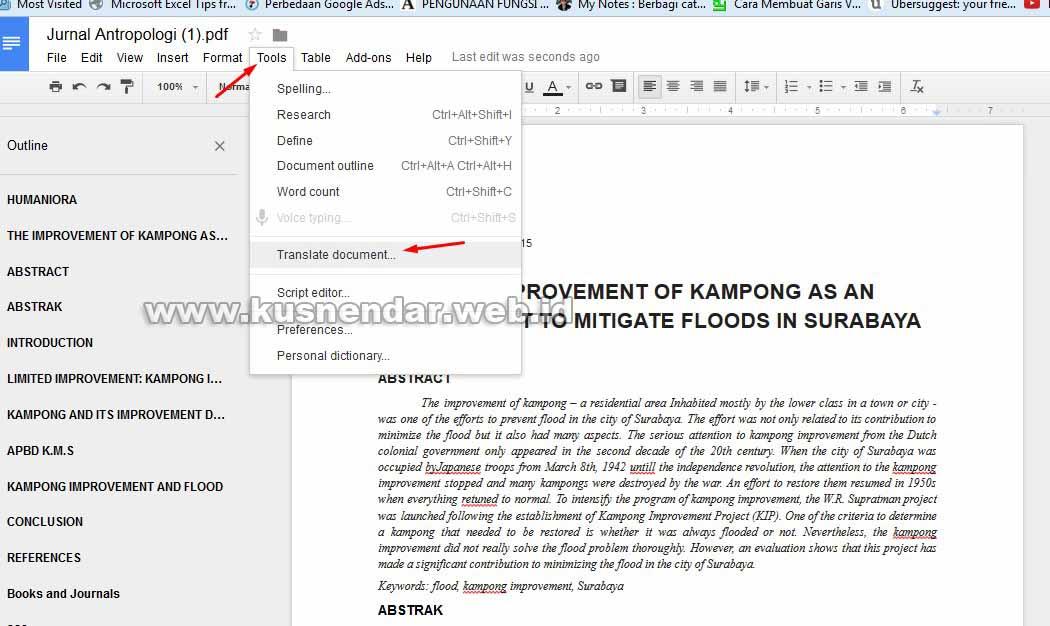 Cara Cepat Translate File PDF Bahasa Inggris ke Bahasa