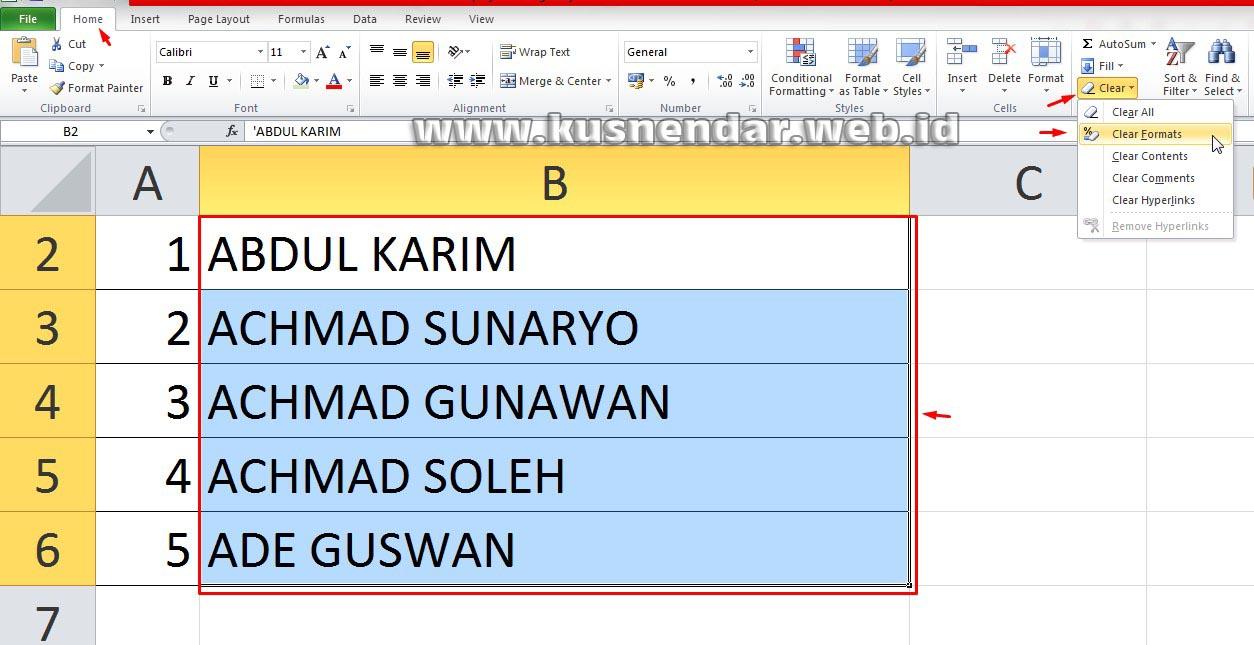 Cara Hapus Tanda Petik di Excel