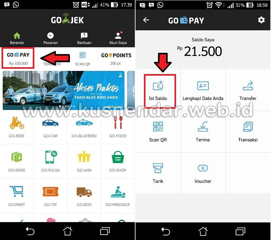 Gopay Gojek: MUDAH! Cara Isi Saldo GoPay (Gojek) Transfer Internet