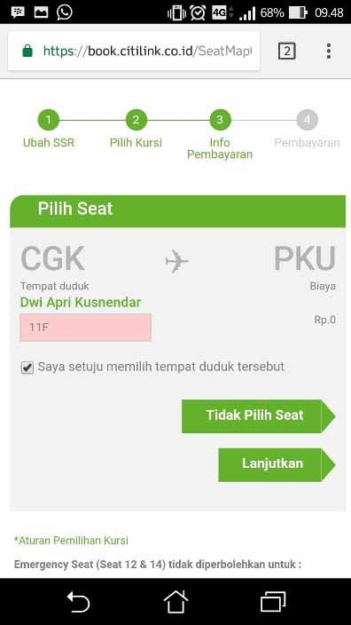 Cara Check in online citilink