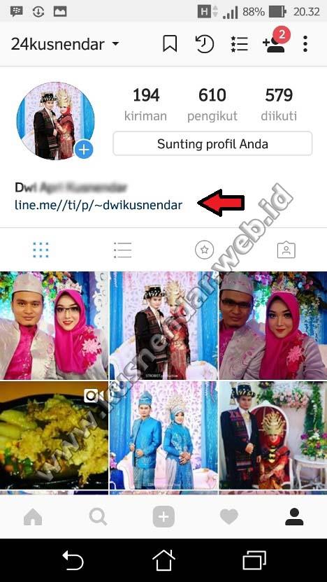 Cara Menambahkan Link Line di Instagram Bisa di Klik