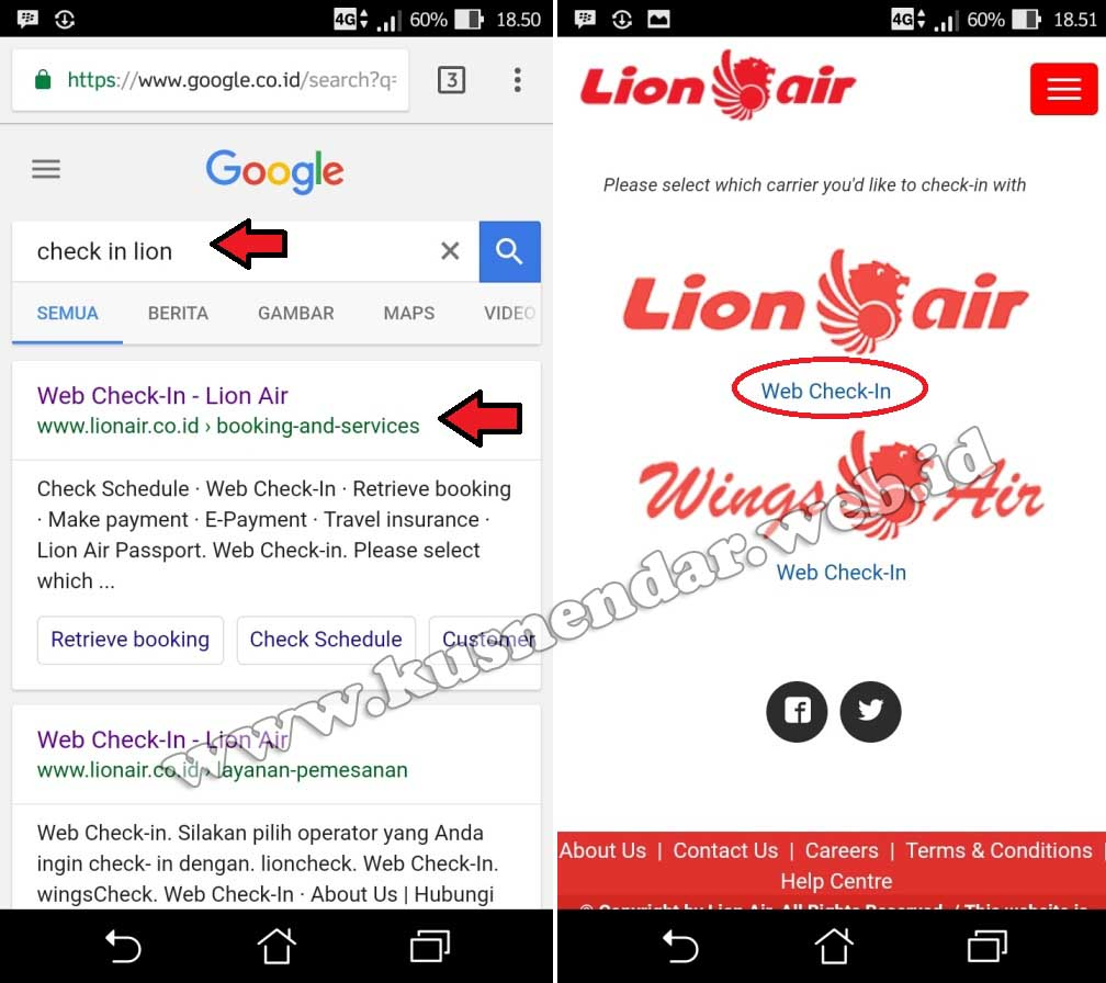 Web Check in online Lion Air