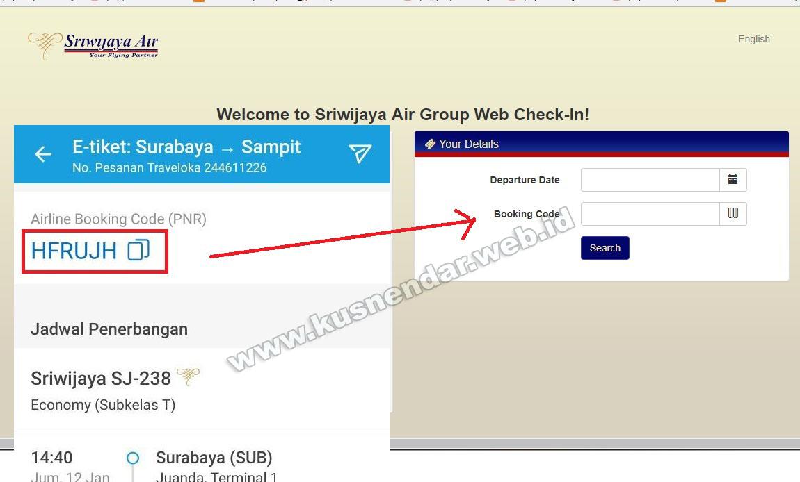 panduan cara check in online sriwijaya di android dan komputer rh kusnendar web id